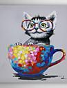 Peint a la main Animal Peintures a l\'huile,Modern Un Panneau Toile Peinture a l\'huile Hang-peint For Decoration d\'interieur