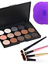 15Fards a PaupieresOthers / Pinceaux de Maquillage Sec / Mat / Lueur YeuxGloss paillete / Gloss en pot / Couverture / Longue Duree /