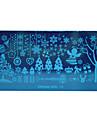 chaud noel diy plaques d\'estampage clou modeles fleur de neige images pochoirs pour les ongles vernis decoration reve fille-11