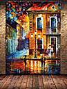 Peint a la main Paysage Peintures a l\'huile,Style / Modern / Classique / Traditionnel / Realisme / Mediterraneen / Pastoral / Style