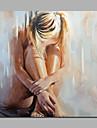 Peint a la main Nu Carre,Moderne Style europeen Un Panneau Toile Peinture a l\'huile Hang-peint For Decoration d\'interieur