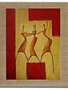 HANDMÅLAD Människor Moderna,En panel Hang målad oljemålning