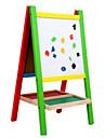 dubbel tätning trä magnetiska ritbordet, vertikala staffli leksaker, barnens pedagogiska leksaker