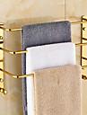 Handduksstång Grön Väggmonterad 14.6*5.1*11.8 inch Mässing Modern