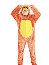 Kigurumi Pajamas Tiger Leotard/Onesie Halloween Animal Sleepwear Orange Animal Print / Patchwork Polar Fleece Kigurumi UnisexHalloween /