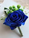Bouquets de Noiva Forma-Livre Rosas Alfinetes de Lapela Casamento / Festa / noite Poliester / Cetim