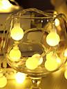 10m a condus lumini șir cu lampă festival de decorare de vacanță de Crăciun AC220V 80led mingii în lumini de iluminat exterior