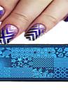 1st 12 * 6cm nail art stämpling plattan geometrisk image design vacker blomma spik verktyg 09-16