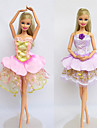 Informel Costumes Pour Poupee Barbie Violet / Rose Robes Pour Fille de Doll Toy