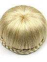 kinky lockigt guld europa brud människohår Capless peruker chignons sp-002 1003