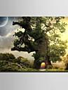 Toile Tendue LED Paysage Modern / Style europeen,Un Panneau Toile Horizontale Imprimer Art Decoration murale For Decoration d\'interieur