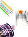 15st nail art ritning penna med 5st utspridda ritstiftet med 12st striping tejp linje spik rand band spik uppsättningar