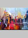 HANDMÅLAD Abstrakta landskap Moderna,En panel Hang målad oljemålning