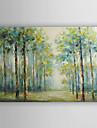 manual pictura in ulei pictat pădure peisaj de vară cu rama de perete 7 arts® intins