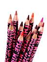 Crayons a Levres Sec Crayons Longue Duree / Naturel Rouge / Multicolore / Peche