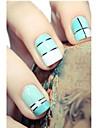 12 Autocollant d\'art de clou Bijoux pour ongles Feuille de bandes de denudage Abstrait Adorable Punk Mariage Maquillage cosmetiqueNail