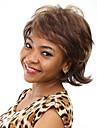 värmebeständiga billiga falska hår peruk korta vågiga syntetiska peruker för kvinnor
