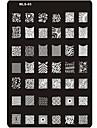 Nail Art Stamping Plate Stamper Scraper 14.5*9.5*0.2cm