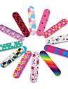 10pcs tampon double clou cote colore nouveau fichier mini-professionnel des ongles poncage a ongles outils Manucure