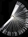 50st Falska Nail Art Tips Display Fan Transparent