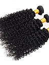 """3 st / lot 8 """"-26"""" brasilianska jungfru hår vinkar djupt naturligt svart färg obearbetat människohår väver"""
