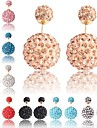 Women\'s Gorgeous Rhinestone Pave Round Beads Stud Earrings