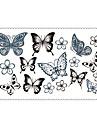5 Tatueringsklistermärken Smyckeserier Djurserier Blomserier Totemserier tecknad serie Ogiftig Mönster Vattentät TecknatSpädbarn Barn Dam