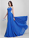 2017 TS Couture® Formal Evening Dress A-line Spaghetti Straps Sweep / Brush Train Chiffon with