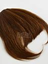 sans soudure invisible bang mode reel frange de cheveux humains clip dans une frange franges de cheveux Remi bresiliens 30g de cheveux /