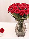 1 1 Gren PU / Others Roser Bordsblomma Konstgjorda blommor 17.3*2.95inch/44*7.5