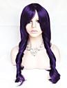 färg cosplay peruk lila 26 tum hög temperatur lockigt hår siden peruk
