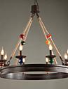 40W Ljuskronor ,  Traditionell/Klassisk Målning Särdrag for Ministil MetallLiving Room / Bedroom / Dining Room / Sovrum / Matsalsrum /