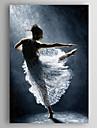HANDMÅLAD Människor olje~~POS=TRUNC,Moderna En panel Kanvas Hang målad oljemålning For Hem-dekoration