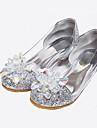 Sandaler Vår Sommar Höst Komfort Tända upp Skor Glitter Bröllop Formellt Fritid Låg klack Kristall Paljett Silverfärgad Guldfärgad