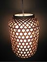 12W Hängande lampor ,  Vintage Rektangulär Särdrag for Ministil Trä/Bambu Living Room / Dining Room
