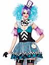 Alice in Wonderland Cosplay Kostymer/Dräkter Blå Film Cosplay Kostymer/Dräkter Lappverk Klänning / Hatt Polyester Kvinna