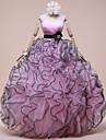 Rochie de bal dulce podea lungime organza bal rochie de seară formal cu detalii de cristal