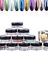 Finger / Tå-Glitter & Puder- avAndra-1box nail powder + 1pcs brush- styck1.5cm*3cm- cm