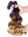 4 st / lot 7a 3t brasilianska jungfru hår löst våg människohår väft 100% obearbetat brasilianska remy hår väver