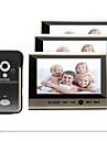 KiVOS Wireless Doorbell Household One With Three 7 Inch Color Video Intercom Doorbell Monitoring Camera