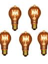 5st A19 E27 40W glödlampa vintage lampa för hushålls bar kafé hotell (220-240V)