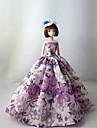 Princesse Robes Pour Poupee Barbie Pourpre clair Robes Pour Fille de Doll Toy