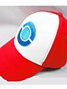 Pălărie/Șapcă Inspirat de Pocket Monster Ash Ketchum Anime Accesorii Cosplay Șapcă / figura Alb / Roșu In Bărbătesc / Feminin