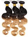 Nyans Indiskt hår Kroppsvågor 3 delar hår väver