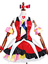 Inspirerad av Macross Frontier Annat anime Cosplay dräkter cosplay Suits / Klänningar Tryck / LappverkKlänning / Knyta / Ärmar /