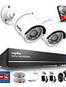 sannce® 4ch 720p systeme de camera de securite camera ahd vedio dvr cctv de surveillance de la maison construite en hdd 1tb