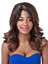 vogue europeen brun moyen-bang perruque de parti sythetic mixte cote onde pour les femmes