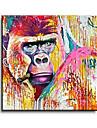 Peint a la main Animal Peintures a l\'huile,Style / Modern / Classique / Traditionnel / Realisme / Mediterraneen / Pastoral / Style