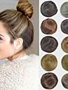 brud updo chignon bulle syntetiska raka hårförlängningar för svarta kvinnor fler färger