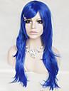 färg cosplay peruk blå 26 tum hög temperatur lockigt hår siden peruk